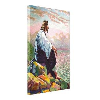 Matthew 14:22-23 Jesus Prays by Himself Canvas Canvas Print