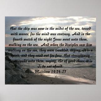 Matthew 14:24-27 Poster