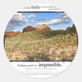 Matthew 17:20 classic round sticker