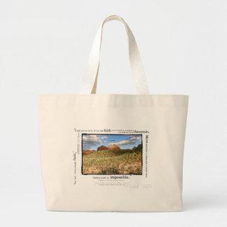 Matthew 17:20 large tote bag