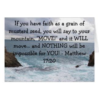 Matthew 17:20  Motivational Bible Quote Card