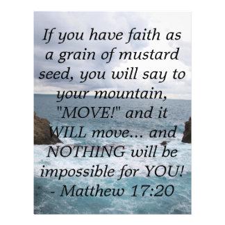 Matthew 17:20  Motivational Bible Quote Flyer
