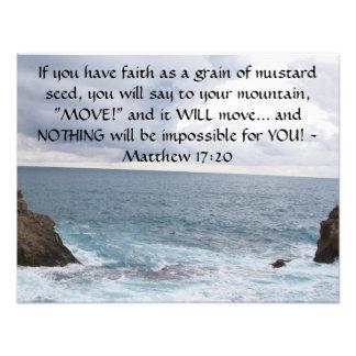 Matthew 17 20 Motivational Bible Quote Invites