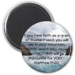 Matthew 17:20  Motivational Bible Quote Fridge Magnets
