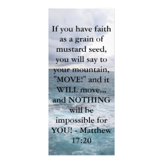 Matthew 17:20  Motivational Bible Quote Rack Card