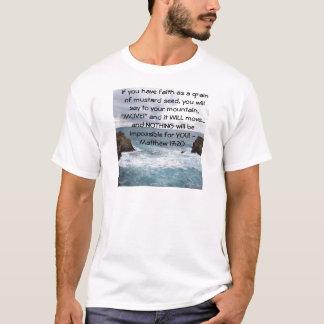 Matthew 17:20  Motivational Bible Quote T-Shirt