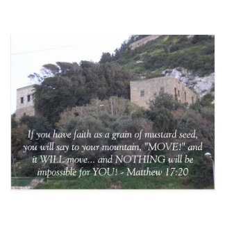 Matthew 17:20 post cards