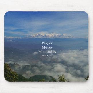 Matthew 17:20 Prayer Moves Mountains Mouse Pad