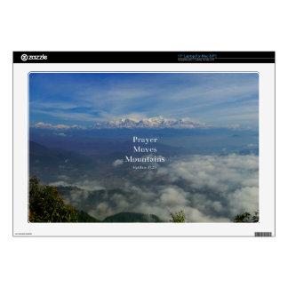 Matthew 17:20 Prayer Moves Mountains Laptop Skin