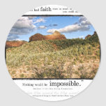 Matthew 17:20 round stickers