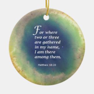 Matthew 18:20 christmas ornament