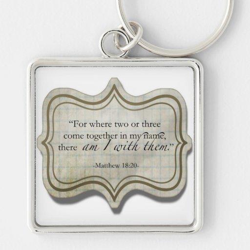Matthew 18:20 keychains