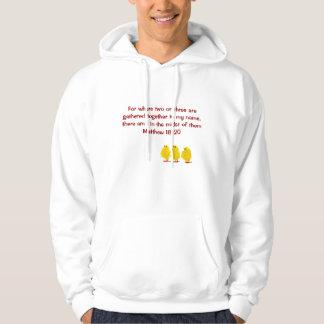 matthew 18:20 mens hoodie