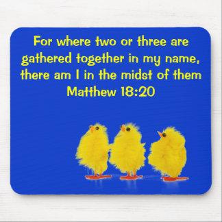 matthew 18:20 mousepad