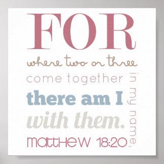Matthew 18:20 poster