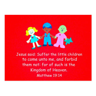 Matthew 19:14 Jesus said... Postcard