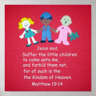 Matthew 19:14 print