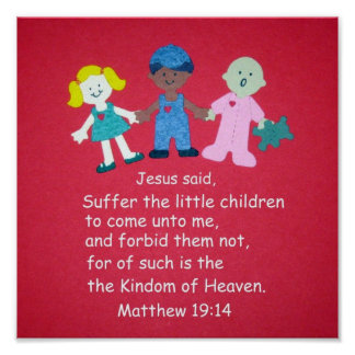 Matthew 19:14 poster