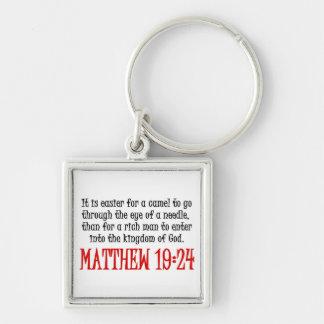 Matthew 19:24 keychain