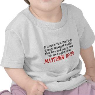 Matthew 19:24 t shirts