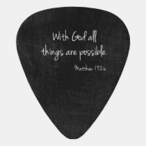 Matthew 19:26 Guitar Pick