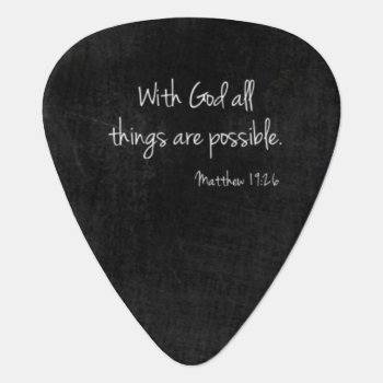 Matthew 19:26 Guitar Pick by AuGo_Accessories at Zazzle