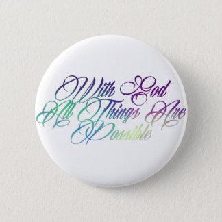 Matthew 19:26 pinback button