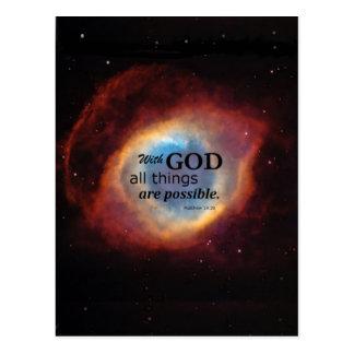Matthew 19:26 postcard