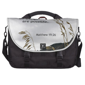 Matthew 19 26 With God all things are possible Laptop Bag
