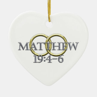 Matthew 19:4-6 ceramic ornament