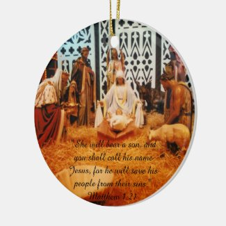 Matthew 1:21 Nativity scene Ornament