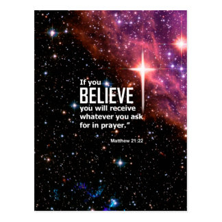 Matthew 21:22 postcard