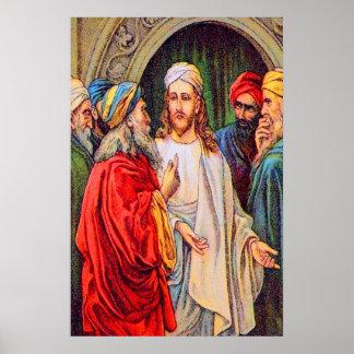 Matthew 22:15-17 Trying to Trap Jesus poster