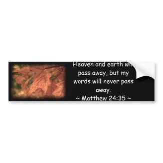 Matthew 24:35 bumper sticker