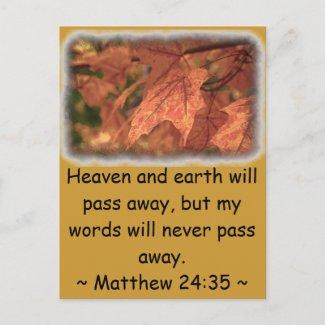 Matthew 24:35 post card