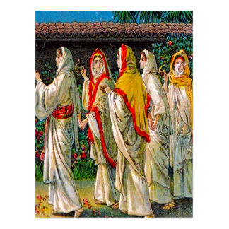 Matthew 25:1-13 The Foolish and Wise Virgins Postcard