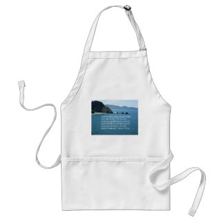 Matthew 25:40 And the King shall answer... Adult Apron
