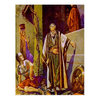 Matthew 26:69-75 Peter Denies Jesus postcard
