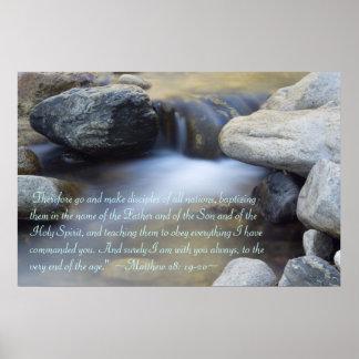 Matthew 28:19-20 Poster