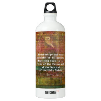 Matthew 28:19  Bible Verse Aluminum Water Bottle