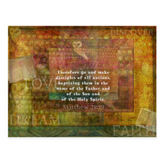 Matthew 28:19  Bible Verse Postcard