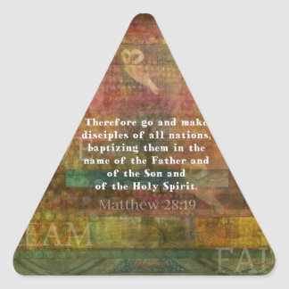 Matthew 28:19  Bible Verse Stickers