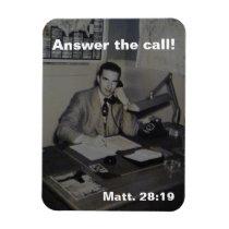 MATTHEW 28:19 MAKE DISCIPLES RETRO VINTAGE FAITH MAGNET