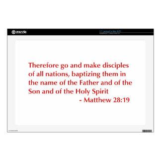 Matthew-28-19-opt-burg.png Laptop Skin