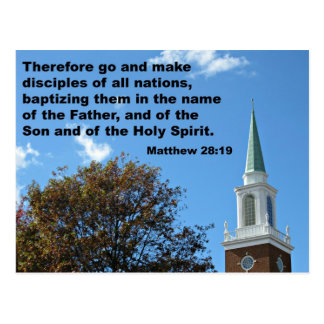 Matthew 28:`19 Therefore, go and make disciples... Postcard