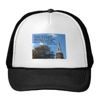 Matthew 28:`19 Therefore, go and make disciples... Trucker Hat