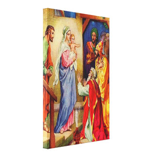 Matthew 2:1-12 Wise Men Travel to Jesus Canvas