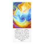 Matthew 3:11 Holy Spirit Dove scripture card Rack Card Design