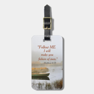 Matthew 4:19 Bible Verse Fishers of Men, Custom Bag Tag