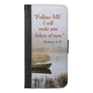 Matthew 4:19 Bible Verse Fishers of Men iPhone 6/6s Plus Wallet Case
